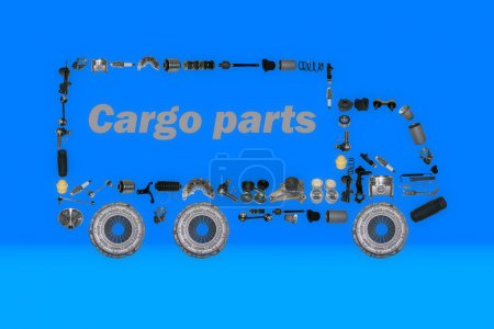 Images truck assembled from new spare parts