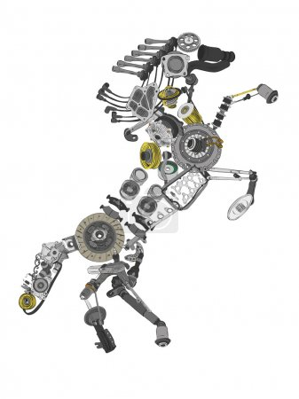 Image of a collected from many spare parts...