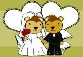 Porcupine married cartoon background