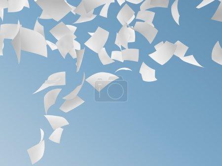 Photo pour Livres blancs sur fond de ciel bleu. - image libre de droit