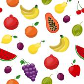 flat style fruits pattern