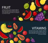 Fruits horizontal  banners for your design