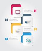 Moderní infographic pro podnikatelský záměr