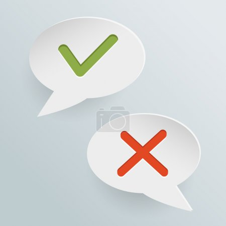 Positive and negative icons