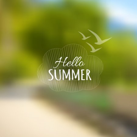Illustration for Vector nature blurred unfocused background. Summer road to forest - Royalty Free Image