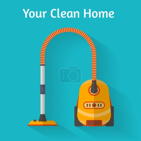 Vacuum cleaner. Flat style vector illustration...