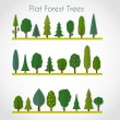 Постер, плакат: Forest elements trees and fir trees