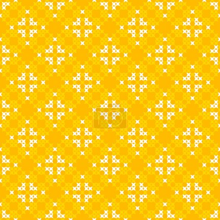Seamless texture with white and yellow abstract patterns