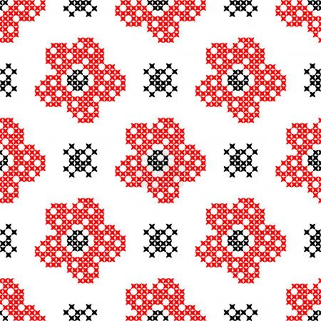 Seamless texture with abstract flowers