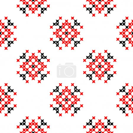 Seamless texture with red and black abstract patterns