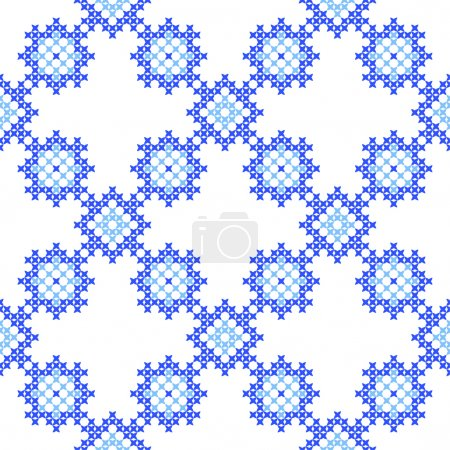 Seamless texture with blue abstract patterns