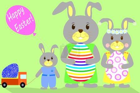 Flat illustration Happy Easter