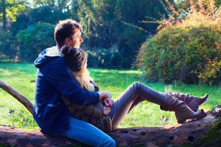 Man and woman relaxing in the park