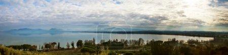 View of Lake Trasimeno in Italy...