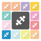 Jigsaw Icon color set vector illustration