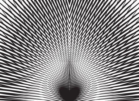 Photo pour Fond d'art optique noir et blanc - image libre de droit