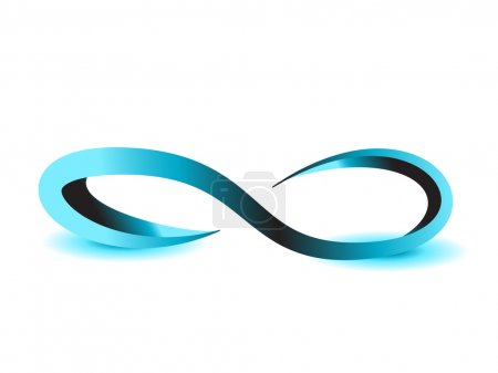 Photo for Infinity symbol unlimited sign icon - Royalty Free Image