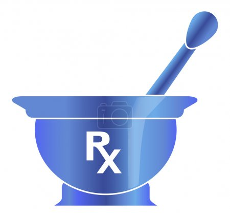 Illustration for Mortar and pestle.Vector illustration on white background - Royalty Free Image
