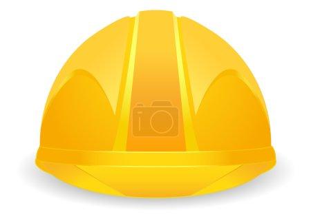 Illustration pour Chapeau constructeur de sécurité sur fond blanc - image libre de droit