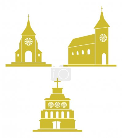 Churches and temples icons
