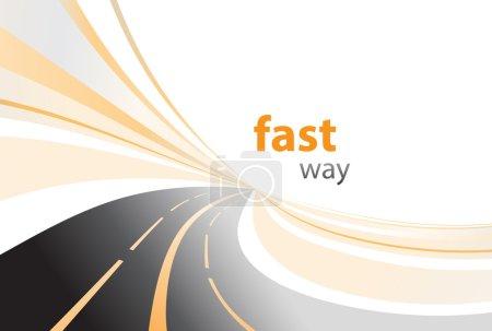 Highway background vector illustration