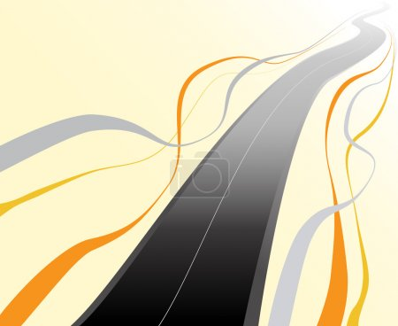 Winding road highway background vector illustration