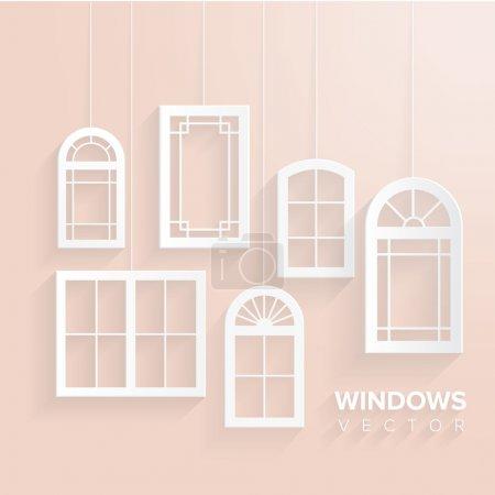 Illustration for Windows house set - Royalty Free Image