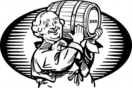 Man With Keg Of Whiskey