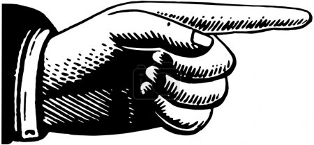 Photo for Pointing Hand - Royalty Free Image