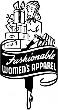 Illustration pour Vêtements à la mode féminine 2 - image libre de droit