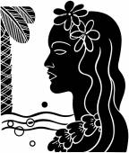 Hawaiian Girl Silhouette