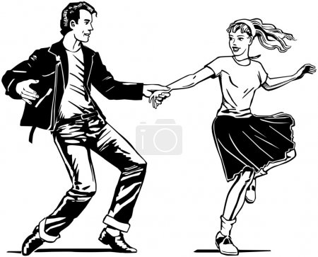 Illustration for Retro Swing Dancing - Royalty Free Image