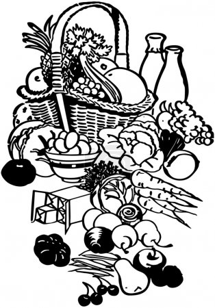 Photo for Food Basket - Royalty Free Image
