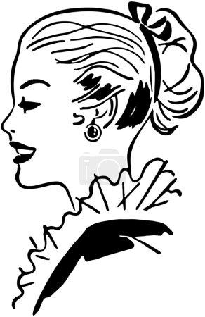 Illustration pour Gal de la queue de cheval - image libre de droit