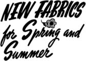 New Fabrics For Spring And Summer