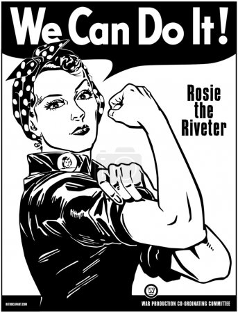 Illustration for Rosie The Riveter - Royalty Free Image