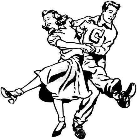 Illustration for Swing Dancers - Royalty Free Image