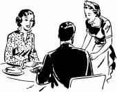 Waitress With Couple