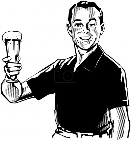 Photo for Man With Beer - Royalty Free Image