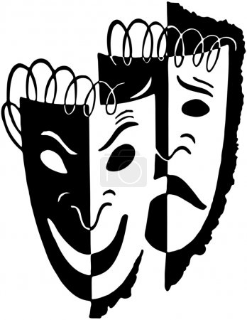 Illustration for Comedy Drama Masks - Royalty Free Image