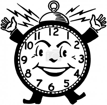 Illustration for Happy Alarm Clock - Royalty Free Image
