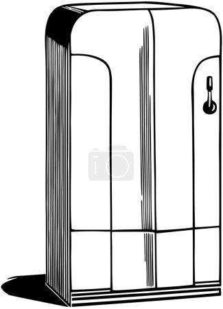 Illustration pour Réfrigérateur - image libre de droit