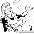 Lady Cook With Pot...