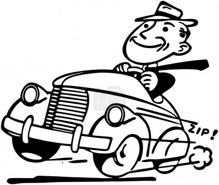 Illustration for Happy Motorist - Royalty Free Image