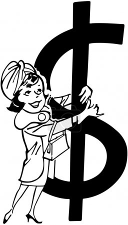 Shopper With Big Dollar Sign