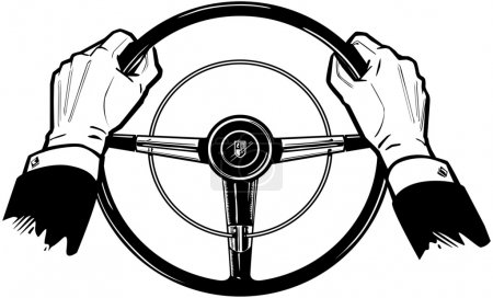 Photo for Hands On The Wheel - Royalty Free Image