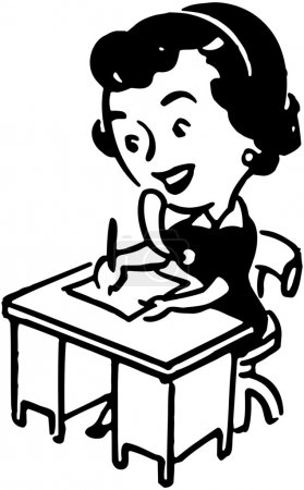 Illustration for Retro Steno - Royalty Free Image