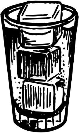 Illustration pour Verre avec glaçons - image libre de droit