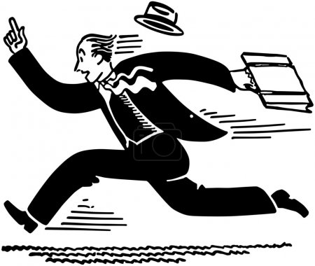 Illustration for Businessman Running - Royalty Free Image