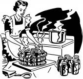 Housewife Canning Fruit